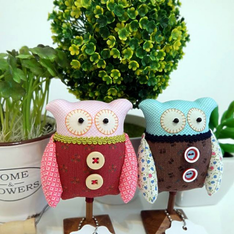 Valentine's Day Gifts ~ Handmade couple standee Owls