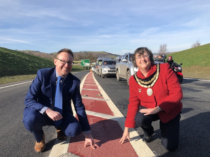 Celebrations as the Newtown bypass opens