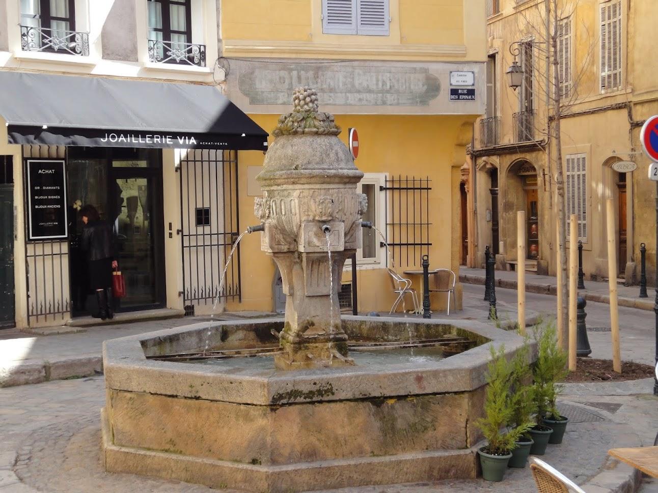 Fontaine des Trois Ormeaux à Aix-en-Provence