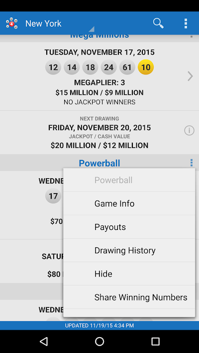 Lotto Results - Mega Millions Powerball Lottery US APK Download