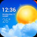 Transparent weather widget icon