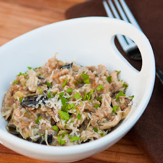 Slow Cooker Chicken & Mushroom Farro Risotto Recipe