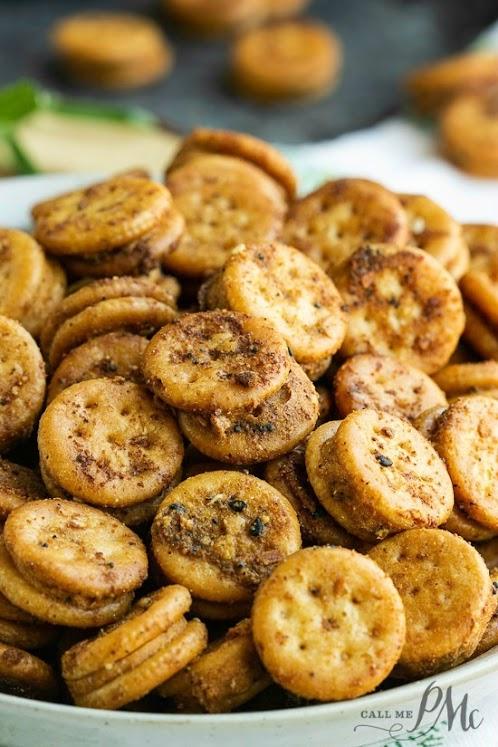 Baked Seasoned Ritz Bits
