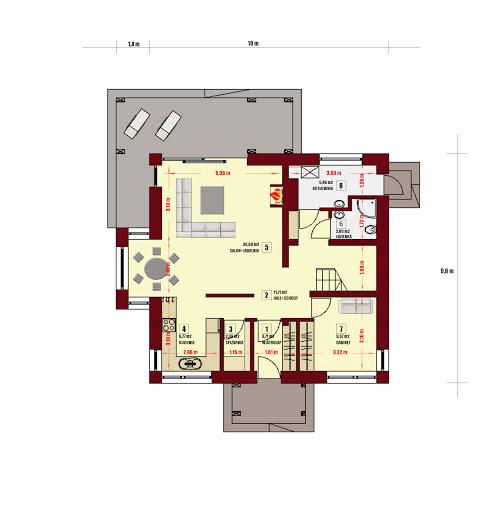 Dom w Pensylwanii 3 - Rzut parteru