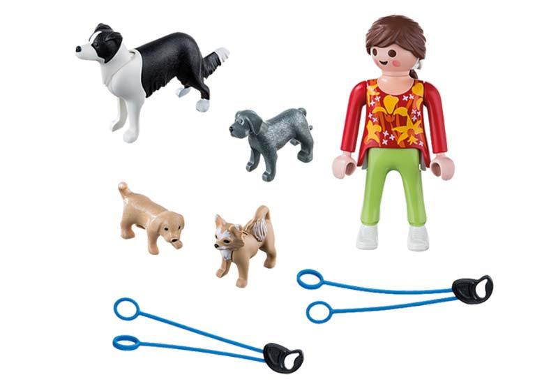 Contenido real de Playmobil® 5380 Mujer con Perros