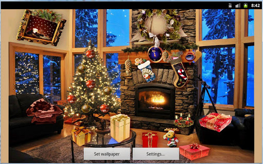 Christmas Fireplace LWP Full screenshot 11