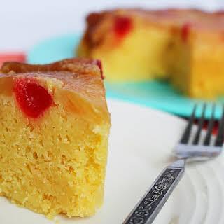 Crockpot Pineapple Upside Down Cake.