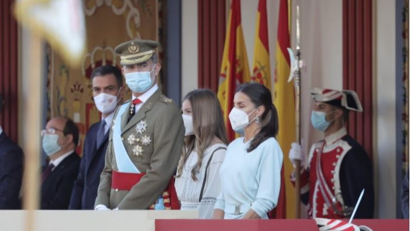 El presidente del Gobierno, junto a los reyes y la infanta Sofía. /Foto: Eduardo Parra / Europa Press