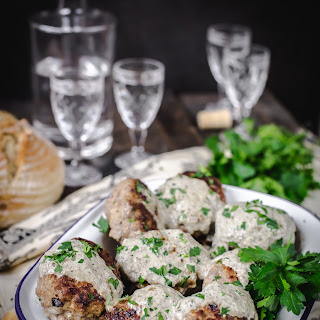 Meat Patties 'Kotlety' with Wild Mushroom Sauce