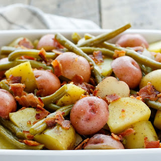 Southern Green Beans with Potatoes and Bacon.
