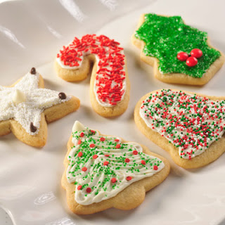 Snow -Topped Holiday Sugar Cookies.