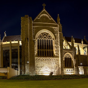 St Mary's Cathedral by Gary Tindale - Buildings & Architecture Places of Worship ( building, perth, night, cathedral, wa, architecture,  )