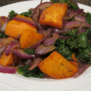 Warm Kale and Sweet Potato Salad