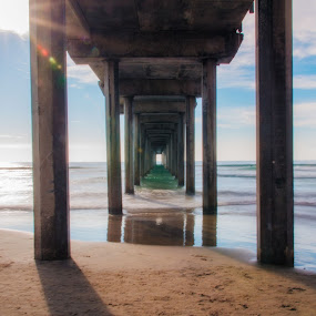 Scripps Pier by Ty Yang - Landscapes Beaches ( pier )