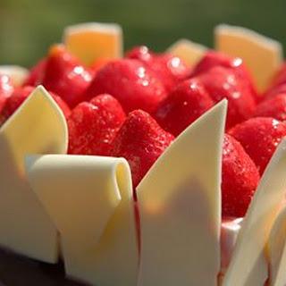 Strawberry And White Chocolate Cheesecake.