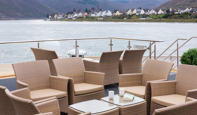 Sit down for a cocktail with a grand view on Avalon Tranquility II's Sky Deck.