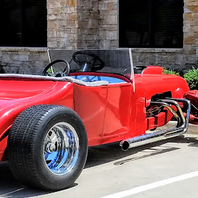 Red Roadster by Aaron Buck - Transportation Automobiles
