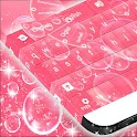 Pink Bubbles GO Keyboard icon