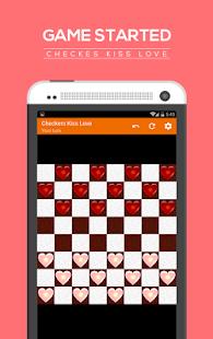 Checkers kiss love screenshot 2