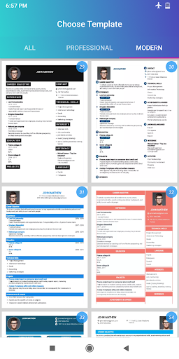 Resume Builder App Free CV maker CV templates 2020 screenshot 13
