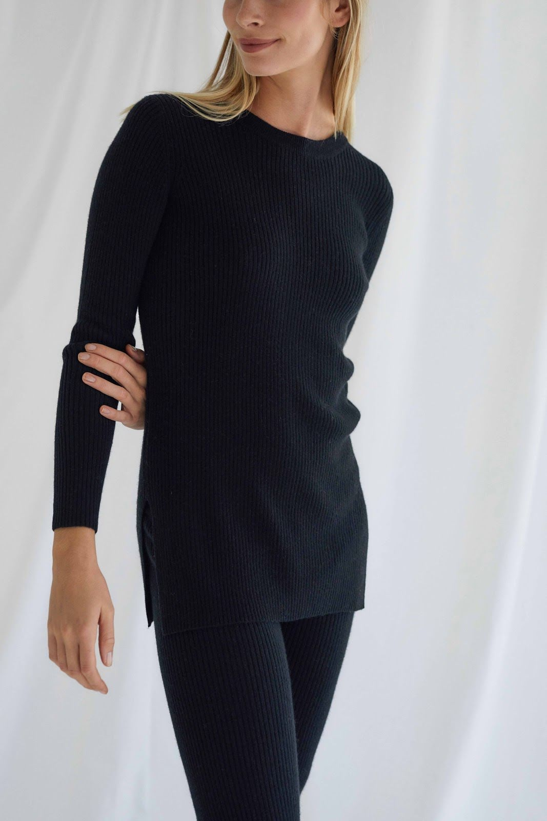 Ribbed Long Sweater