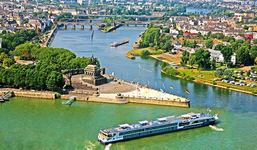 Avalon-Creativity-exterior-2 - Avalon Creativity sailing through Koblenz, Germany.