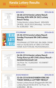 Kerala Lottery Results Search- screenshot thumbnail