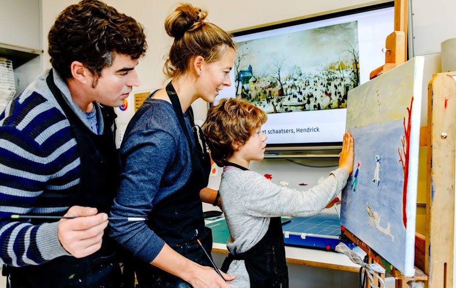 Familieworkshop schilder je eigen winterlandschap for Schilder inhuren per uur
