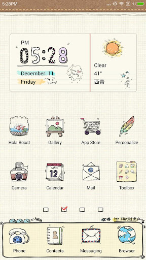 Notepad Hola Launcher Theme
