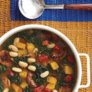 Kale, Sausage, and White Bean Soup