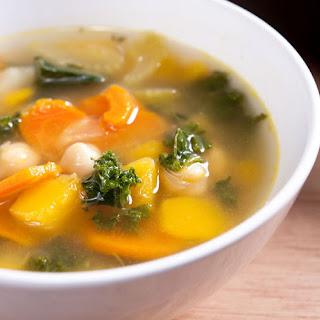 Easy Homemade Vegetable Soup.