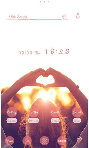 Cute Theme-Hand Heart- 1.0.1 Windows u7528 2