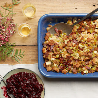 Cider, Bacon, and Golden Raisin Stuffing
