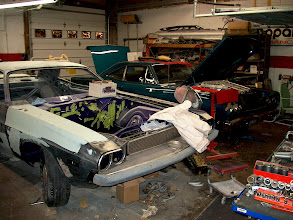 Photo: 70 challenger custom 340 5speed and a 383 68 runner in the background