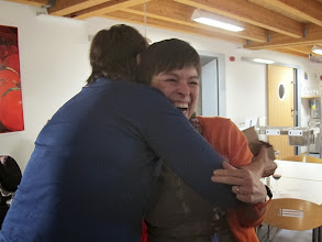 Photo: The happy winner Yvonne