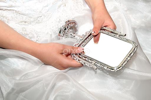 Bride Hands Holding Vintage Stile Mirror By Radu Borzea   Products U0026  Objects Industrial Objects (