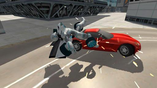 Flying Car Robot Flight Drive Simulator Game 2017 6 screenshots 6