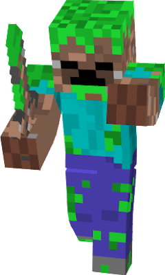 A camofluaged zombie.