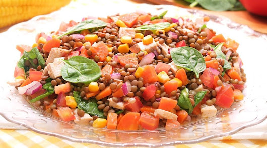 Un plato especial para el miércoles: ensalada de lentejas con vinagreta