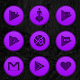 Wooden Radial Violet Icons Download on Windows