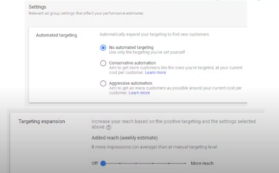 Автоматический таргетинг в Google