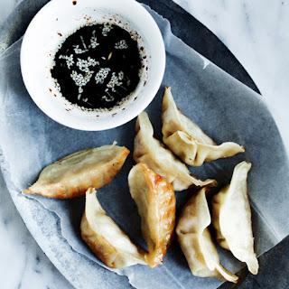 Crispy Gluten-Free Pork Potstickers with Sesame Dipping Sauce