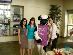 Photo: Graduate students w/ Miss Cow