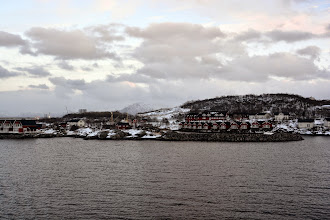 Photo: We arrive later in the day at Stokmarknes - home of the Hurtigruten Museum