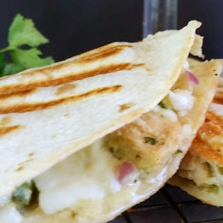 Grilled Tequila Lime Chicken Salad Quesadilla