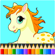 Unicorn Coloring Book Pages: Kids Coloring Games