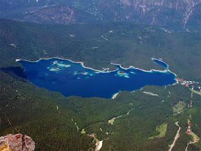 Photo: Looking down at the lake