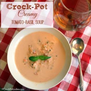 Crock-Pot Creamy Tomato Basil Soup