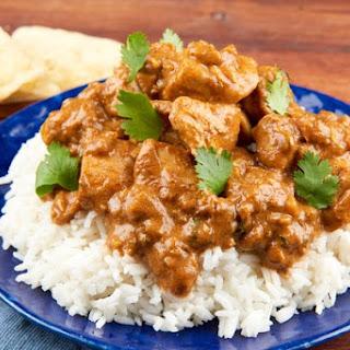 Chicken Tikka Masala With Chicken Thighs, Basmati Rice, and Garlic Naan