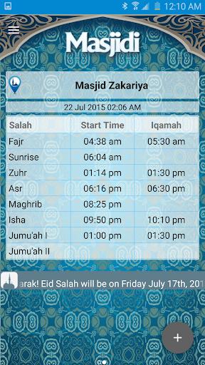 Masjidi: Prayer Iqamah Times